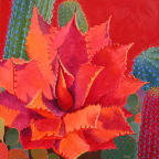 Desert Agave Contemporary Cactus Art By Sharon Weiser