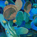 Prickly Pear Patterns,blue cactus