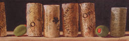 Corks #2,wine corks,olives,still life painting