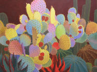 Desert Garden #15,brown prickly pear,large botanical landscape