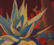 Desert Garden #24,agave painting, cacti subjects