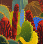 Desert Blooms #70,bright,rich,colorful cactus